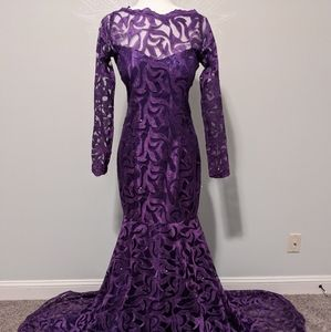 Royal Purple Evening Gown